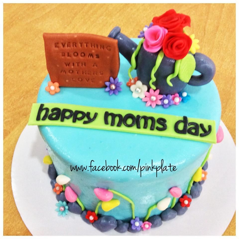 garden-themed cake