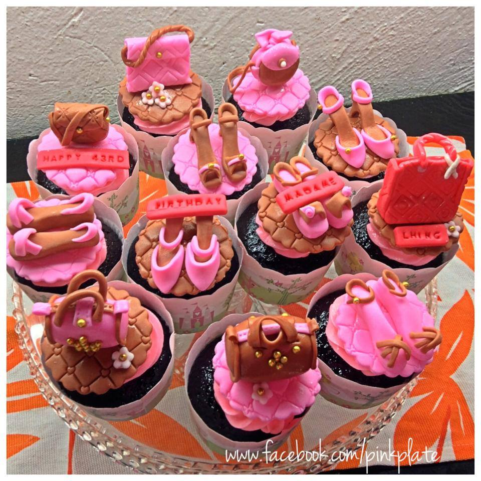 designer bags and shoes cupcakes