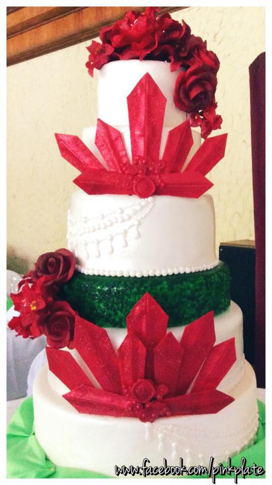 fondant christmas wedding cake