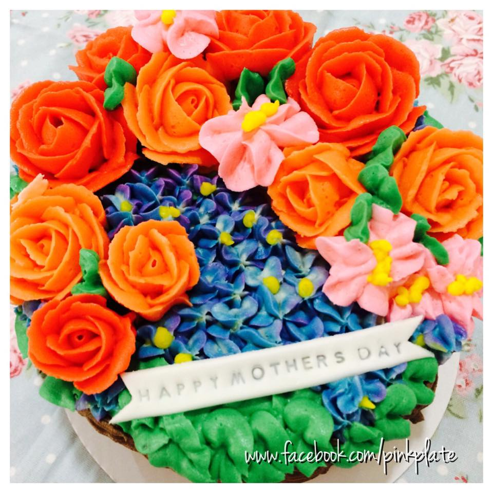 buttercream mothers day cake