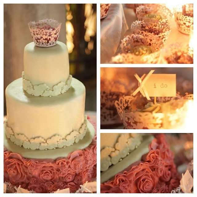 Ivory and old rose ruffle cake; photo provided by client; photo taken by Niquo Fernandez (https://www.facebook.com/pages/NQ-Photography/250460641724243?fref=ts)