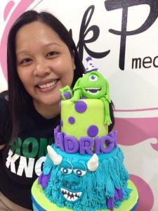 fondant monsters inc cake