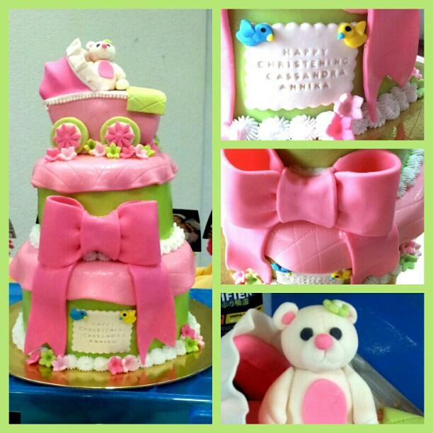 christening cake for girls