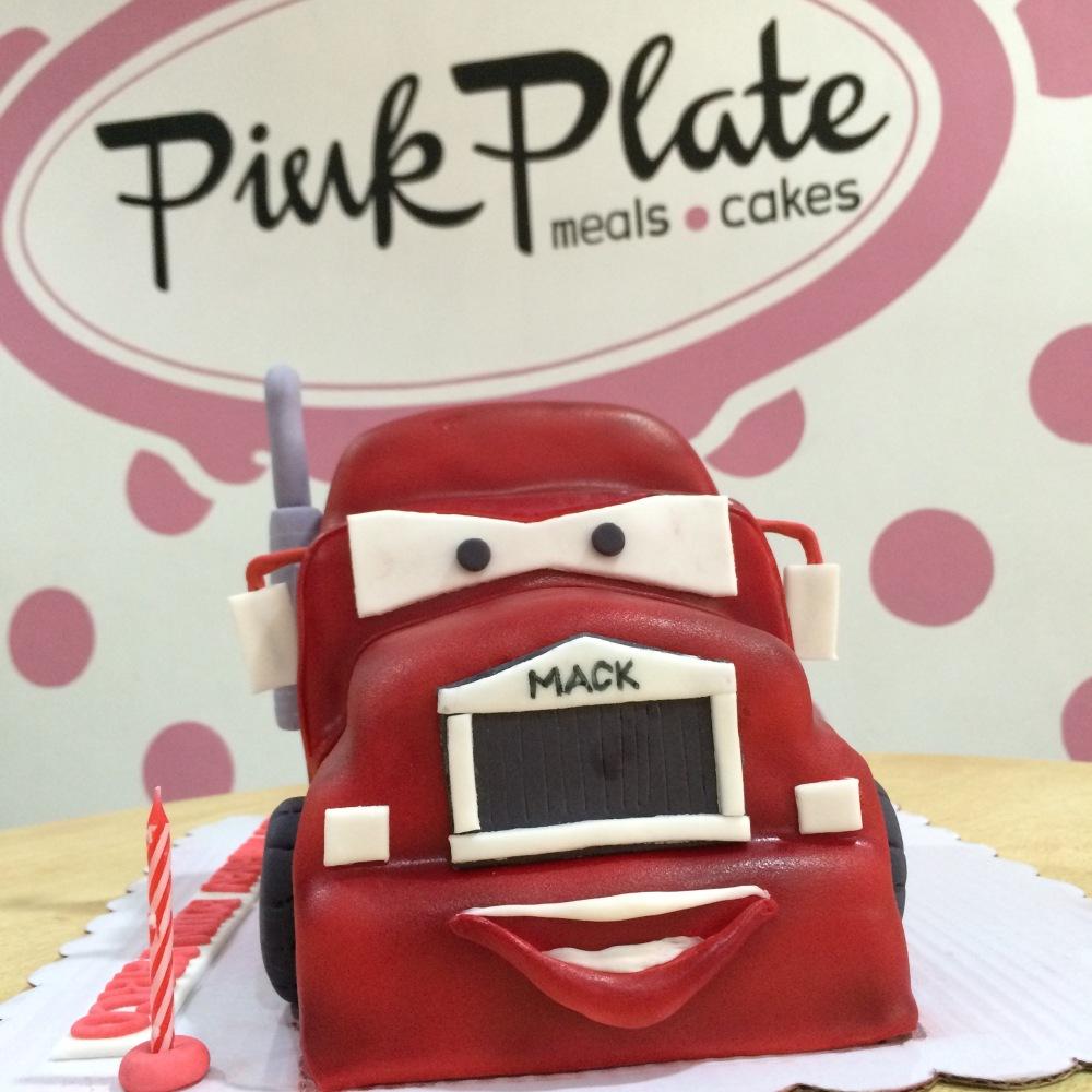 Mack the Truck fondant cake for boys