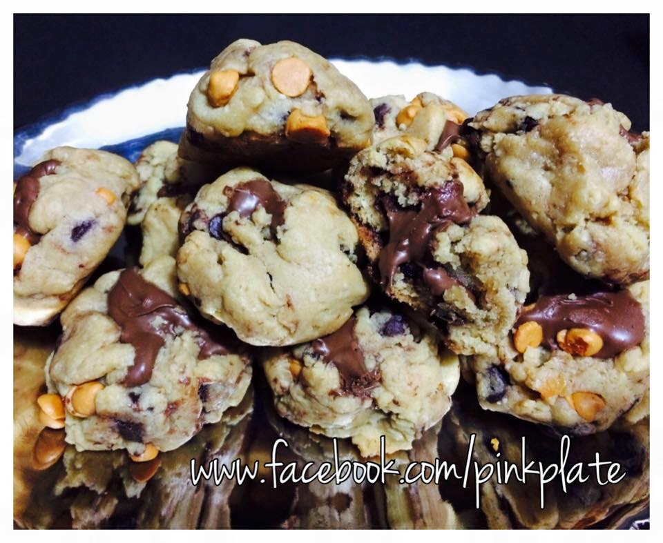 nutella choco chip butterscotch cookies