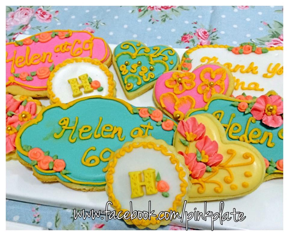 customized shabby chic sugar cookies