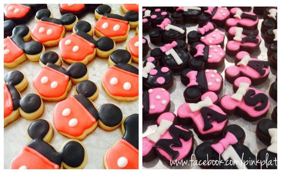 Mickey and Minnie sugar cookies