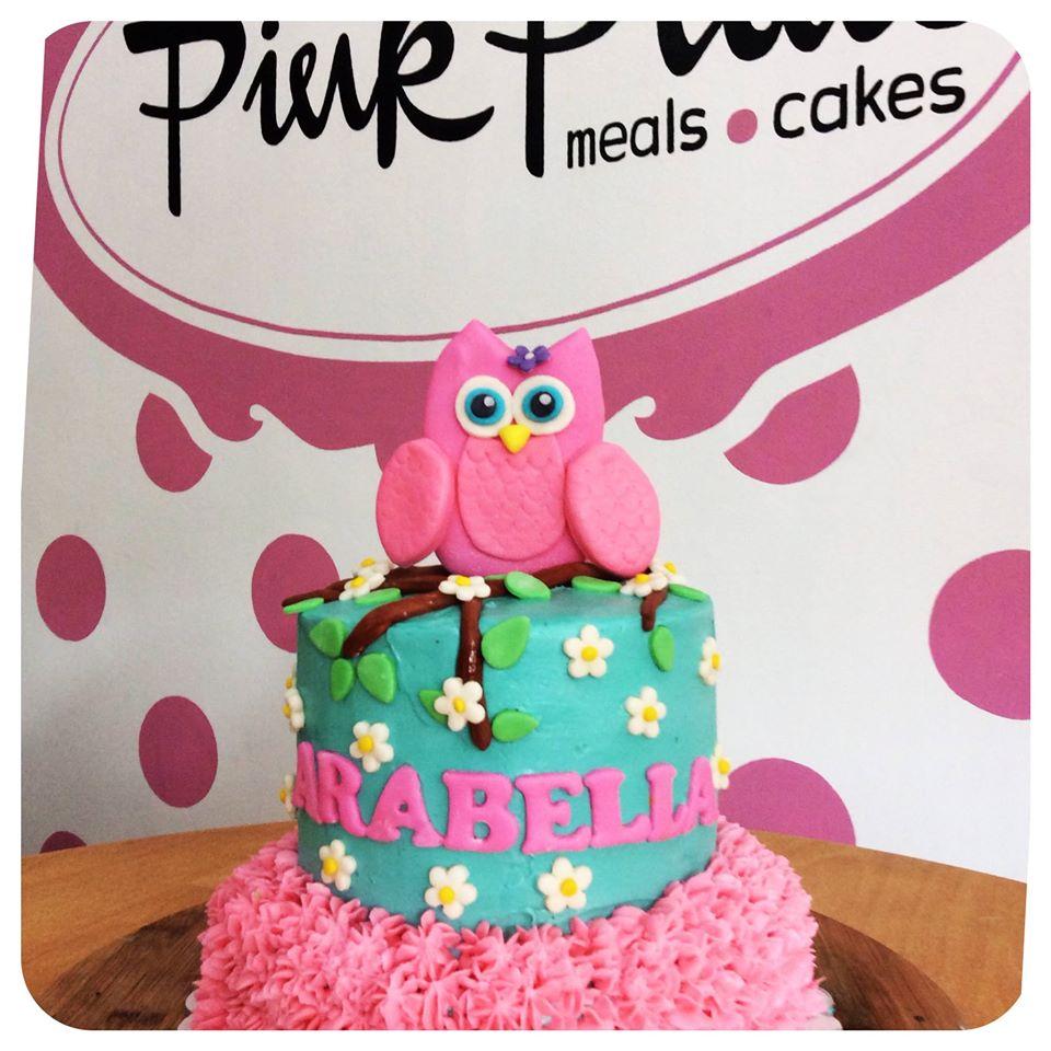 customized owl cake