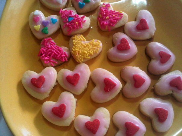 The very first sugar cookies I ever made, way back in July 2011.