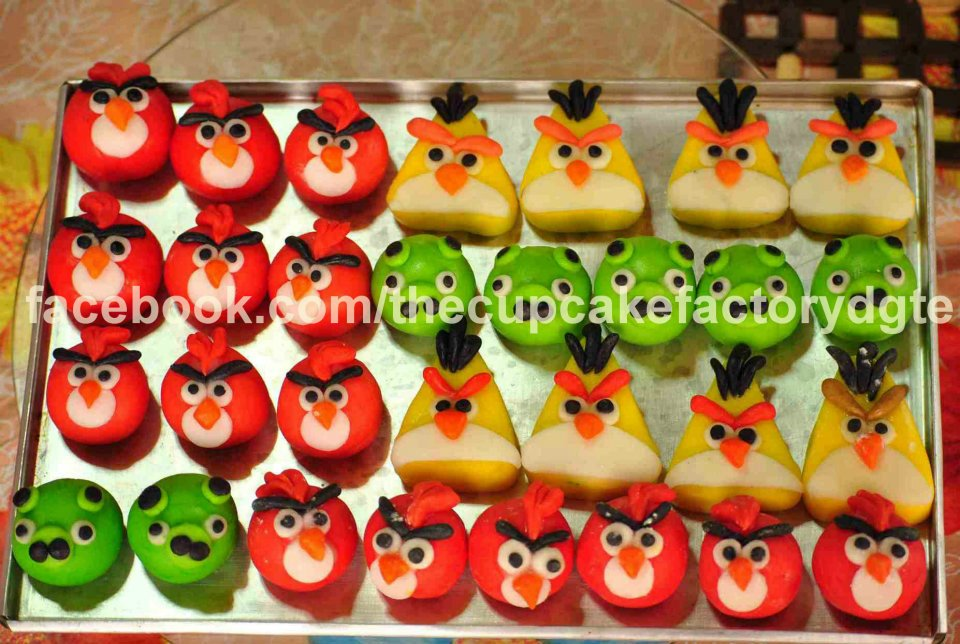 I eventually learned how to make fondant. Angry birds cupcake toppers made by me. Photo taken by husband. Originally posted in my old Facebook page.