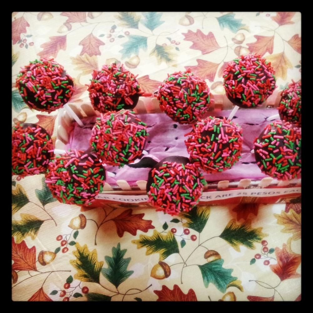 cake pops sprinkles